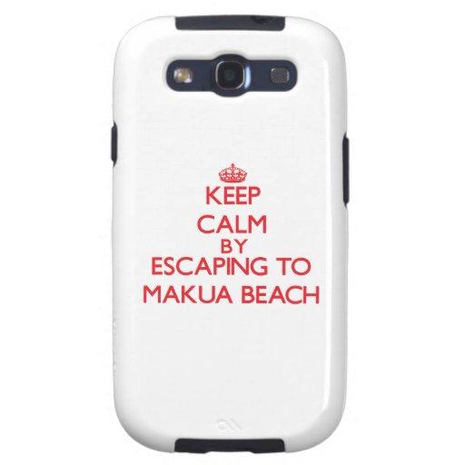 Keep calm by escaping to Makua Beach Hawaii Galaxy SIII Case