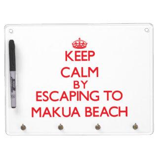 Keep calm by escaping to Makua Beach Hawaii Dry Erase Whiteboard