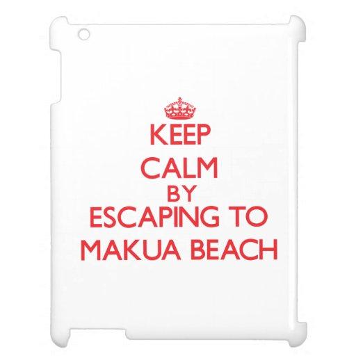 Keep calm by escaping to Makua Beach Hawaii iPad Case