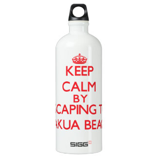 Keep calm by escaping to Makua Beach Hawaii SIGG Traveller 1.0L Water Bottle
