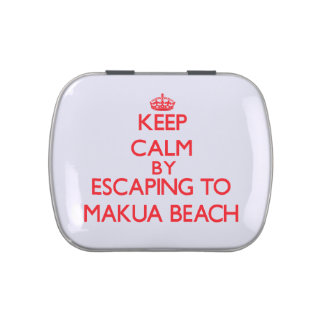 Keep calm by escaping to Makua Beach Hawaii Candy Tins