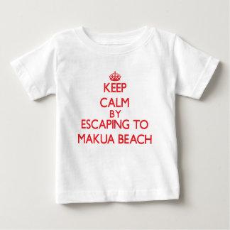 Keep calm by escaping to Makua Beach Hawaii T Shirt