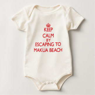 Keep calm by escaping to Makua Beach Hawaii Rompers