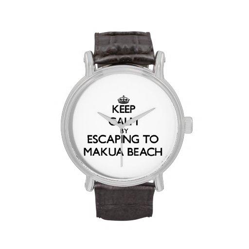 Keep calm by escaping to Makua Beach Hawaii Watch
