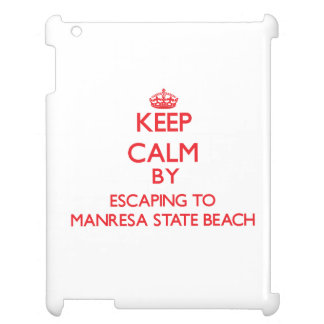 Keep calm by escaping to Manresa State Beach Calif iPad Cover
