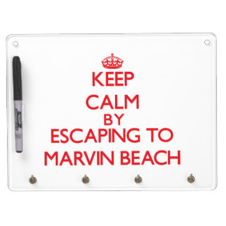 Keep calm by escaping to Marvin Beach Connecticut Dry Erase Whiteboard