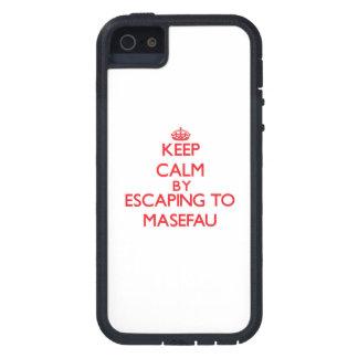 Keep calm by escaping to Masefau Samoa Tough Xtreme iPhone 5 Case