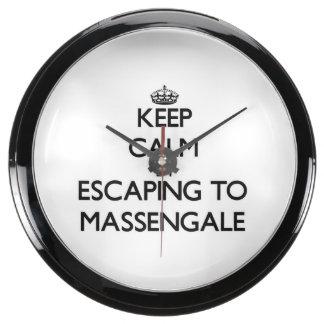 Keep calm by escaping to Massengale Georgia Aqua Clocks