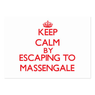 Keep calm by escaping to Massengale Georgia Large Business Cards (Pack Of 100)