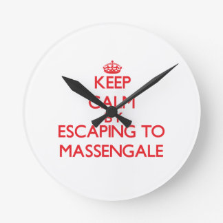 Keep calm by escaping to Massengale Georgia Clocks