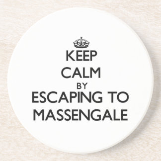 Keep calm by escaping to Massengale Georgia Beverage Coaster