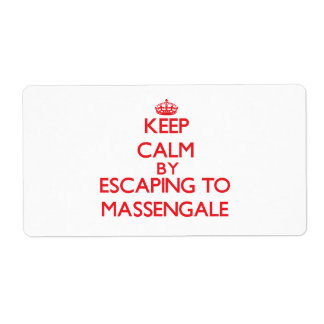 Keep calm by escaping to Massengale Georgia Shipping Label