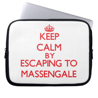 Keep calm by escaping to Massengale Georgia Laptop Computer Sleeve