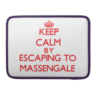 Keep calm by escaping to Massengale Georgia Sleeve For MacBooks