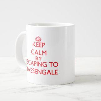 Keep calm by escaping to Massengale Georgia Jumbo Mug