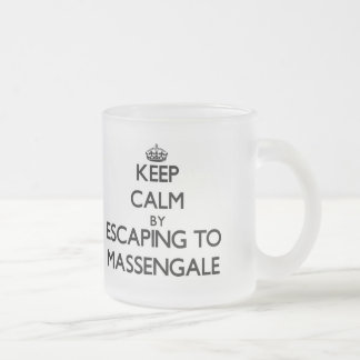 Keep calm by escaping to Massengale Georgia 10 Oz Frosted Glass Coffee Mug
