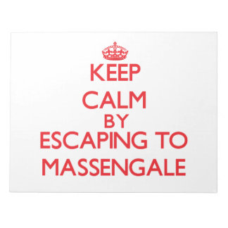 Keep calm by escaping to Massengale Georgia Memo Pads