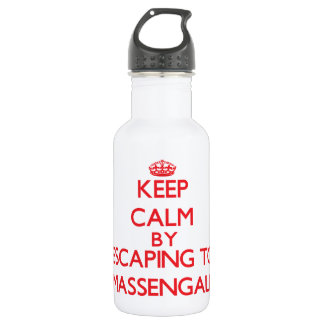 Keep calm by escaping to Massengale Georgia 532 Ml Water Bottle