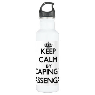 Keep calm by escaping to Massengale Georgia 24oz Water Bottle