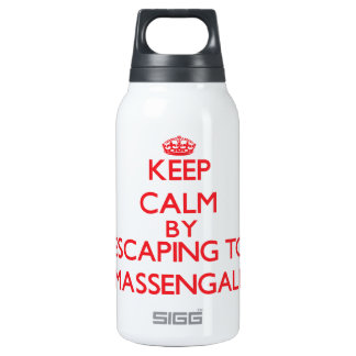 Keep calm by escaping to Massengale Georgia 10 Oz Insulated SIGG Thermos Water Bottle