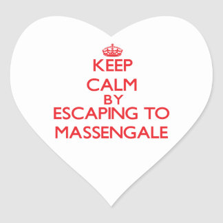 Keep calm by escaping to Massengale Georgia Heart Stickers