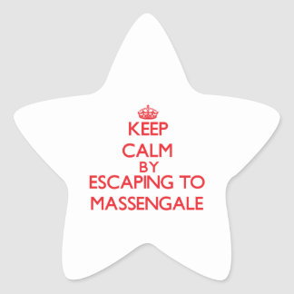 Keep calm by escaping to Massengale Georgia Star Sticker