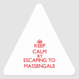 Keep calm by escaping to Massengale Georgia Sticker