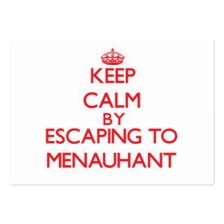 Keep calm by escaping to Menauhant Massachusetts Pack Of Chubby Business Cards