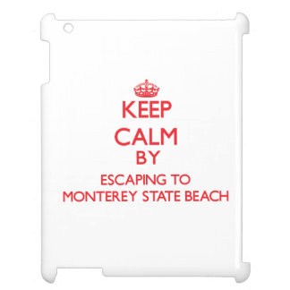 Keep calm by escaping to Monterey State Beach Cali Case For The iPad