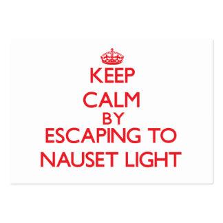 Keep calm by escaping to Nauset Light Massachusett Business Card Template