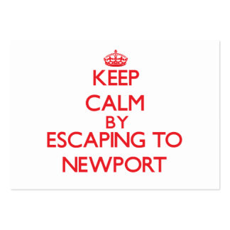 Keep calm by escaping to Newport Massachusetts Business Card Template