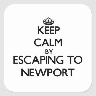 Keep calm by escaping to Newport Massachusetts Square Sticker