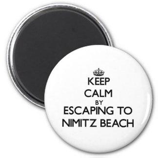 Keep calm by escaping to Nimitz Beach Guam Refrigerator Magnets