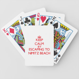 Keep calm by escaping to Nimitz Beach Guam Bicycle Card Deck