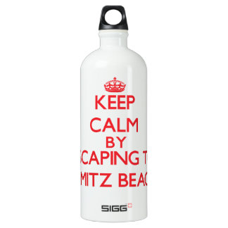 Keep calm by escaping to Nimitz Beach Guam SIGG Traveller 1.0L Water Bottle