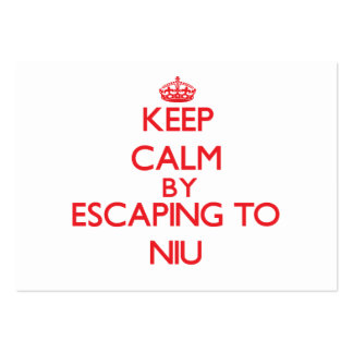 Keep calm by escaping to Niu Hawaii Business Cards