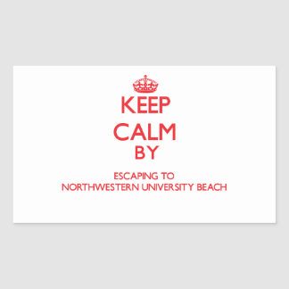 Keep calm by escaping to Northwestern University B Stickers