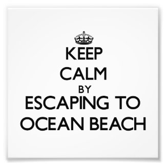 Keep calm by escaping to Ocean Beach New York Photograph