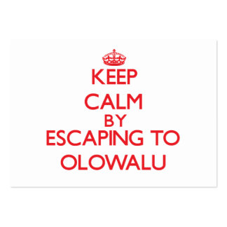 Keep calm by escaping to Olowalu Hawaii Business Card Templates