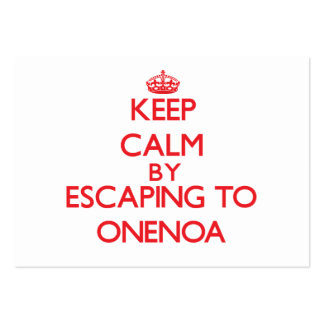 Keep calm by escaping to Onenoa Samoa Business Card Templates