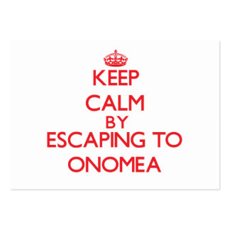 Keep calm by escaping to Onomea Hawaii Business Card Template