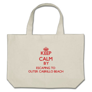 Keep calm by escaping to Outer Cabrillo Beach Cali Canvas Bags
