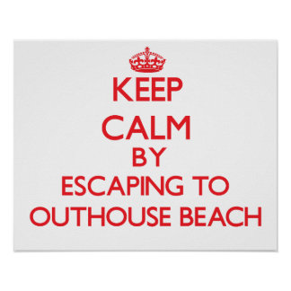 Keep calm by escaping to Outhouse Beach Guam Print