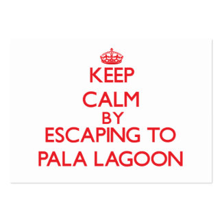 Keep calm by escaping to Pala Lagoon Samoa Business Card