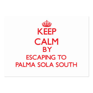 Keep calm by escaping to Palma Sola South Florida Pack Of Chubby Business Cards