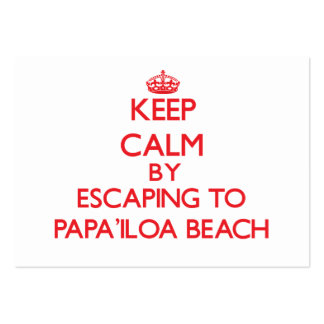 Keep calm by escaping to Papa'Iloa Beach Hawaii Pack Of Chubby Business Cards