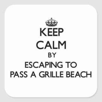 Keep calm by escaping to Pass-A-Grille Beach Flori Square Stickers