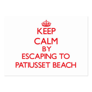 Keep calm by escaping to Patiusset Beach Massachus Business Card Templates