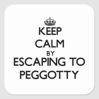 Keep calm by escaping to Peggotty Massachusetts Square Sticker
