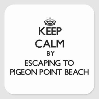 Keep calm by escaping to Pigeon Point Beach Califo Stickers